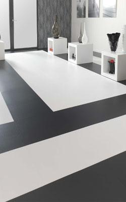 Black And White Vinyl Tiles