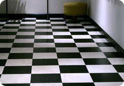 Black And White Vinyl Tiles
