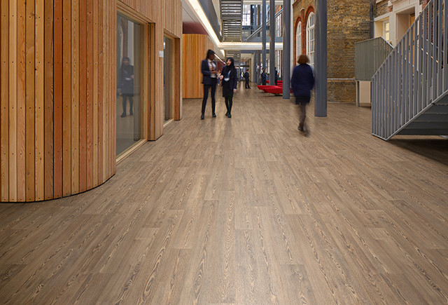 Polysafe Wood Fx From Polyflor Rustic Oak From Safety